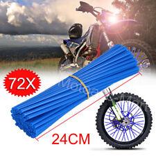 Universal Wheel Spoke Wraps Motorcycle Cover Pipe Skins For Kawasaki Suzuki US