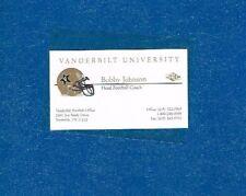 Bobby Johnson Signed Business Card Vanderbilt Football Coach Autograph Auto