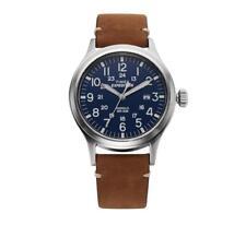 TIMEX TW4B01800 Expedition Men's Wristwatch 40mm Leather Watch Indiglo,Quartz