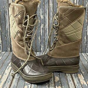 Clarks Muckers Storm Beige Fur Line Boots Womens Size 6.5 NEW