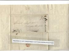 1824 STAMPLESS COVER NEWARK OHIO PIONEER LUCIUS SMITH TIMBER/LAND/TAX BUFFINGTON