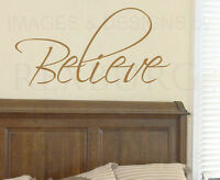 Wall Decal Sticker Quote Vinyl Art Lettering Decoration Believe Inspirational W1