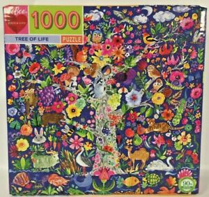 Tree of Live 1000 Pieces Puzzle Eeboo Piece & Love Animals Nature Birds Flowers