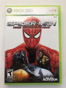 Spider-Man: Web of Shadows (Microsoft Xbox 360, 2008) Complete w Manual