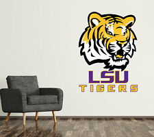 Lsu Tigers Wall Decal Logo College Ncaa Custom Art Sticker Vinyl Large Sr14