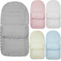 Broderie Anglaise Pushchair Footmuff / Cosy Toes Compatible with Maclaren