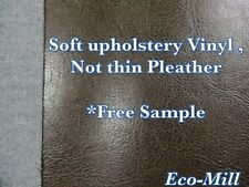 "NEW Dark Brown Vinyl Furniture Fabric Soft Hand Faux Leather for Furniture 54""W"