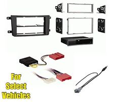 Car Stereo Radio Dash Install Trim Kit Combo for select CX-9 w/Special A/C Wire
