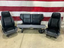 92 GMC Typhoon Interior Seat Set (Front/Rear) OEM Used Charcoal Leather