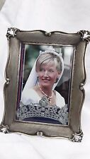 vintage decorative sterling silver 800 picture frame  (Canada)