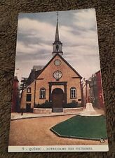 Vintage Postcard Unposted Notre Dame Des Victoires Quebec Canada