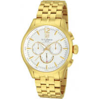 S. Coifman Men's Watch Chronograph White Dial Yellow Gold Bracelet SC0127