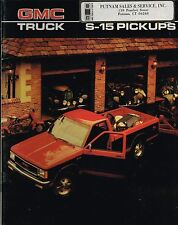 1986 GMC S15/S-15 PickUp TRUCK Brochure w/Color Chart:HIGH SIERRA,GYPSY,4WD,4x4,