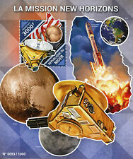 Niger 2015 MNH New Horizons Mission to Pluto 1v S/S Space Charon Atlas V Launch