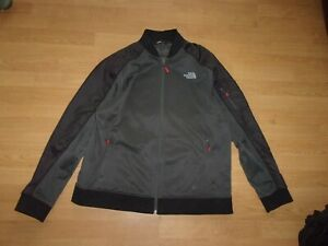 The North Face Black & Charcoal Grey mens tracksuit Jacket size XL