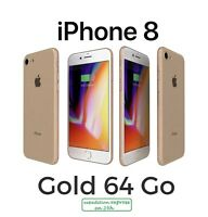 Apple iPhone 8 64 Go Gold Or Unlocked Débloqué Perfect Condition A++ Warranty