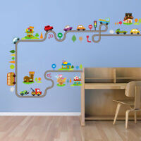 Transport  Cars Wall Stickers Removable Decals Kid Nursery Room Décor G9Z