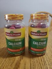 Nature Made Calcium Gummies 500 mg Cherry,Orange, Strawberry 80 ct. (Pack of 2)