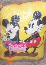 Disney Mickey Mouse and Minnie Autograph Pillow Vintage 1970's NEW  9x10 ""