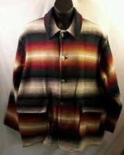 Woolrich Men's Aztec Wool Indian Blanket Saltillo Western Southwest Jacket XL.