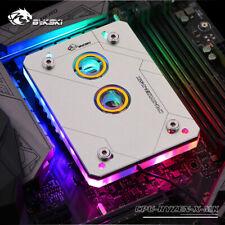 Silver CPU Water block Water Cooling Liquid Cooler RWB LED for AMD AM3 AM3+ AM4