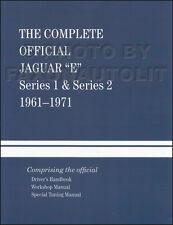 Jaguar XKE Shop Manual Hardback and Racing Book XK-E 1962 1963 1964 1968 1969 19