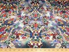 "Jewels Gems Cluster 4 Way Stretch Nylon Lycra Fabric 58"" W BTY"