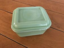 Jadite Fire King Refrigerator Dish With Cover