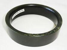 Excavated Thai Well Carved Dark Green Nephrite Jade Bangle Bracelet (Mil)