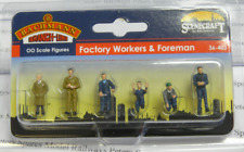 Scenecraft 36-403 Factory Workers & Foreman (Pk6) Figures OO Gauge