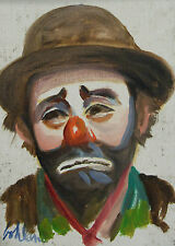 Orig George Bohland Clown Portrait French Quarter New Orleans Louisiana Painting