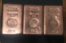Geiger Edelmetalle 100 Oz Copper .9999 Bullion Bar 6 Pounds RARE! FAST SHIPPING!