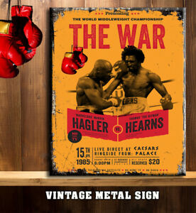 MARVIN HAGLER V THOMAS HEARNS BOXING FIGHT GYM SHED Metal Wall Sign RS404