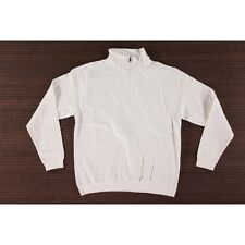 New Size XL White Awdis Sophomore 1/4 Zip Neck SweatShirt Plain