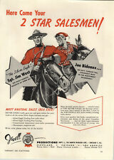 1953 PAPER AD Jewell Toys Sargent Jim West The Silver Eagle Trading Post Bideaux