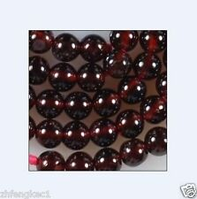 10mm Sri Lanka Red Garnet Gemstone Round Loose Bead 15''