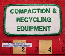 GREEN/WHITE COMPACTION & RECYCLING EQUIPMENT CLACKAMAS OREGON JACKET PATCH 63T1