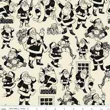 Fat Quarter Lost and Found Christmas Santa Black Cotton Quilting Sewing Fabric