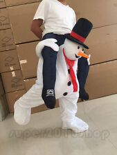 Parade Costumes Snowman Mascot Piggy Adult Carry Ride On Back Xmas Dress Outfits