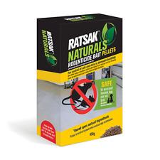 RATSAK 450g Rodent Naturals RODENTICIDE Bait Pellets - SAFE pets livestock birds