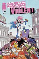 Pretty Violent Comic 1 Cover A Derek Hunter First Print 2019 Jason Young Holt