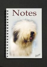 Old English Sheepdog Notebook/Notepad with a small image on every page