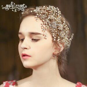Gorgeous Vintage Flower Pearl Headband Ornament Headdress Wedding Accessories