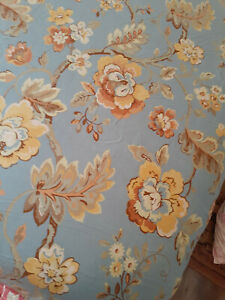 Linen Source  Queen Duvet Cover & 2 Shams-Excellent Condition-100% Cotton