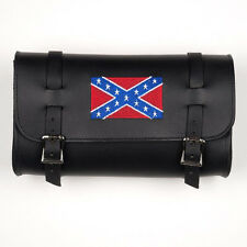 Genuine Leather Black Motorcycle Tool Bag - American Made - South Flag