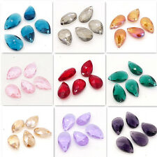 Wholesale Faceted Teardrop Crystal glass Loose beads Pendants DIY 16mm22mm28mm