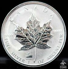 1998 Canada $5 Maple Leaf 1 oz .999 Silver Coin Titanic Privy Mark