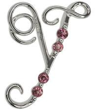 Piedras preciosas y turmalina rosa carta de plata esterlina colgante + cadena