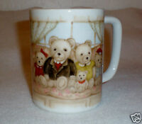 "Otagiri Ceramic Coffee/Tea Mug ""Bear Family""  Lovely Design! Made in Japan"