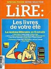 LIRE N°407 JUILLET-AOUT 2012  LIVRES DE VOTRE ETE/ SPECIAL POCHE